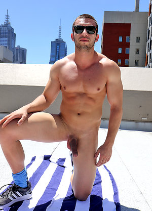 James Nowak strips out of his rugby gear on the roof