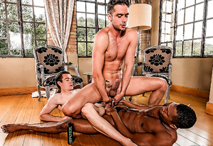 Damon Heart Gets Double-dicked By Sean Xavier And Jon Bae