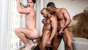 Hung Black Studs Andre Donovan And Max Konnor Spit Roast Devin Franco