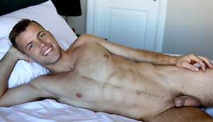 Hairy Football Jock Michael Kasten Jerks Off